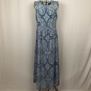 Talbots sheer sleeveless maxi dress 4